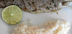 Grilled Trout with thyme and lime recipe
